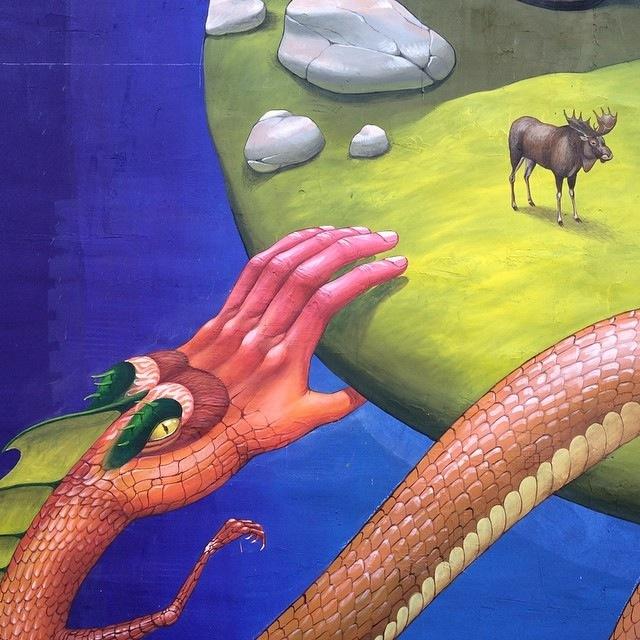 Work in progress. Detail of my mural in Kiev.. #interesnikazki #ukraine
