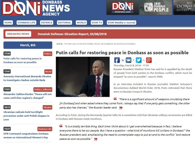 Putin calls