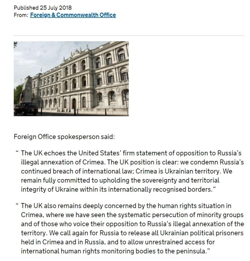 UK on Crimea
